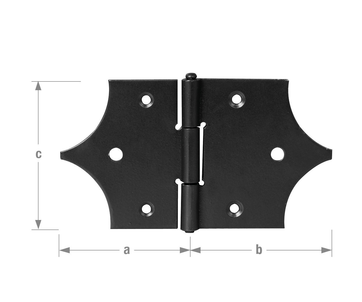 Accessories For Classical Shutter Hinges Decorative Hinges Black