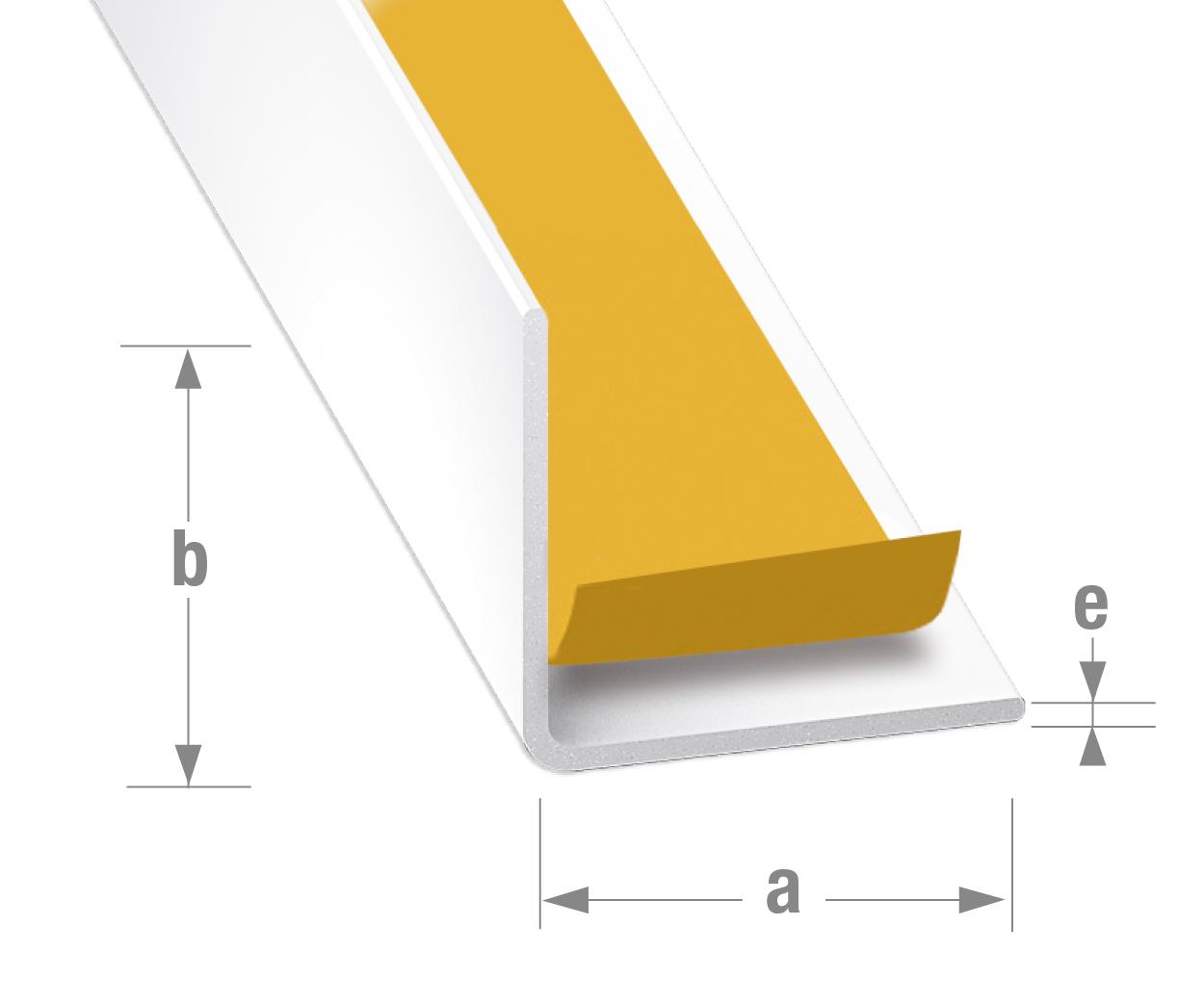 Profiles Adhesif Profiles Adhesifs Alu Plat Laque Blanc