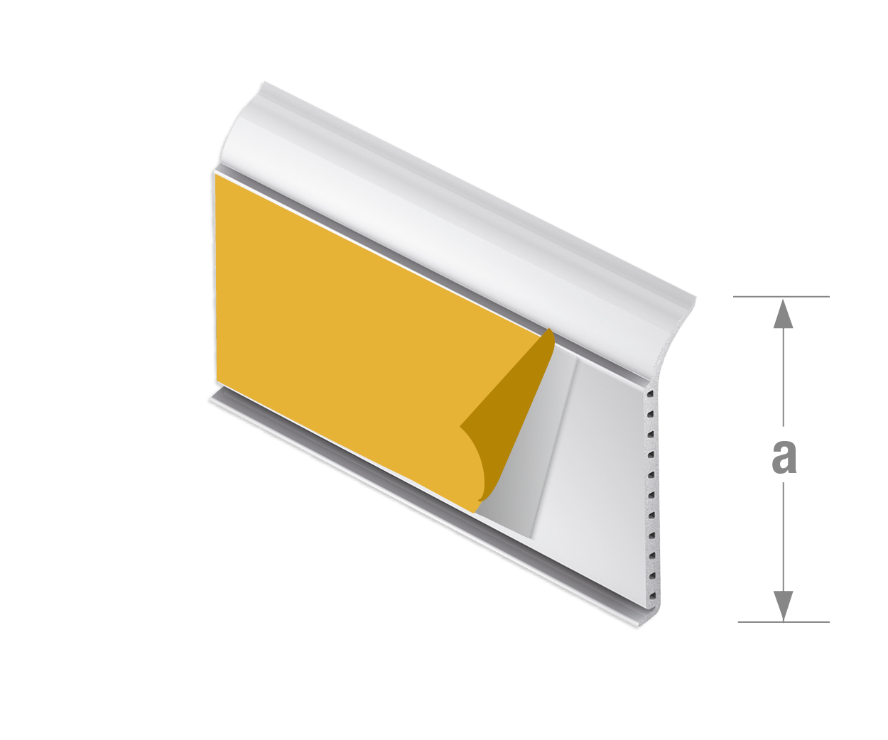 profiles adhesif profiles adhesifs pvc plinthe adhesive blanc. Black Bedroom Furniture Sets. Home Design Ideas