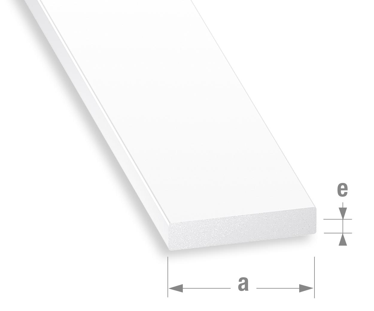 abschlussprofile platten grobe groben pvc flachstange weiss. Black Bedroom Furniture Sets. Home Design Ideas