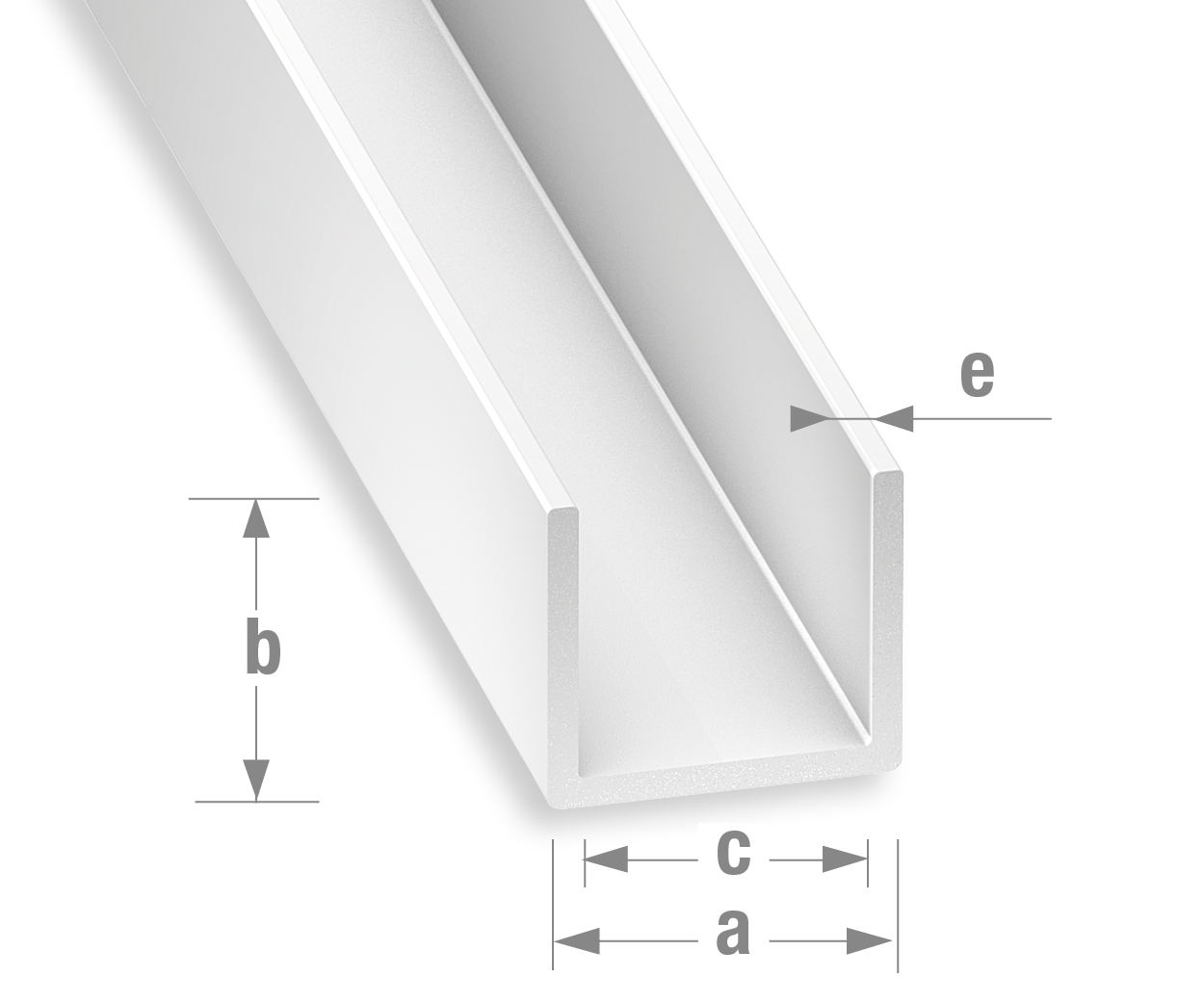 Gut bekannt Profile-PVC/Sortiment-PVC-Klassik/U-profil-Weiss MM58