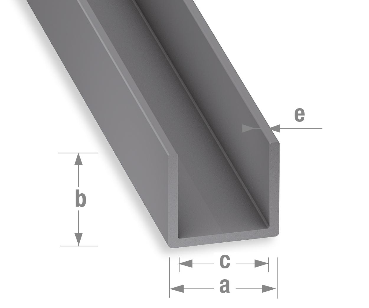 Gut bekannt Profile-PVC/Sortiment-PVC-Klassik/U-profil-Grau XP25