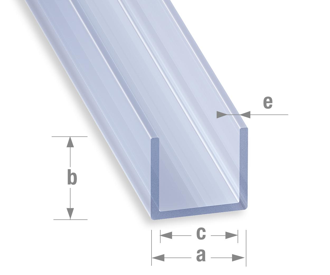 Sehr Profile-PVC/Sortiment-PVC-Farbe/U-profil-Transparent AB67